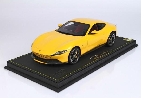 BBR Ferrari Roma Giallo Modena Limited Edition 32 1/18
