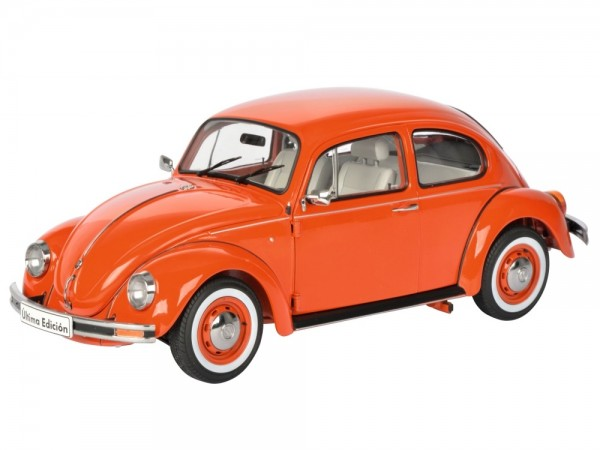 Schuco Classic VW Käfer 1600i snap orange 1:18