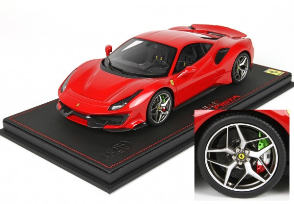 BBR Ferrari 488 Pista Red Corsa 322 special Wheel 1/18 Limited Edition 24 Stück