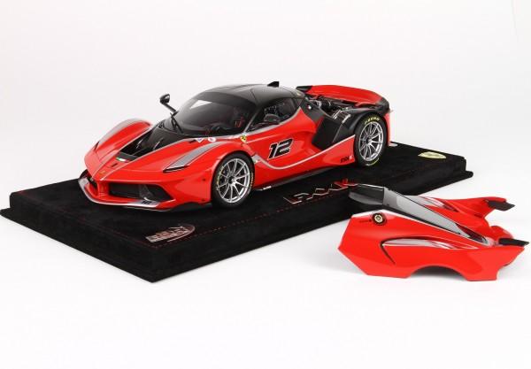 BBR Project 18 Ferrari FXX K open version #12 rosso scuderia-schwarz 1:18