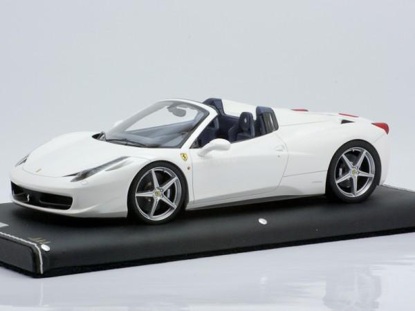 MR Models Ferrari 458 Spider 1/18 Bianco Fuji