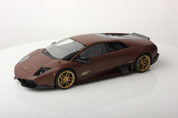 MR Models Lamborghini Murcièlago LP670-4 SV Fixed Wing scale 1/18 MATT BROWN