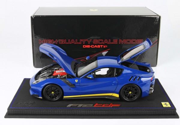 BBR Ferrari F12 TDF Azzurro Dino Lederbasis Limited Edition 60 1/18