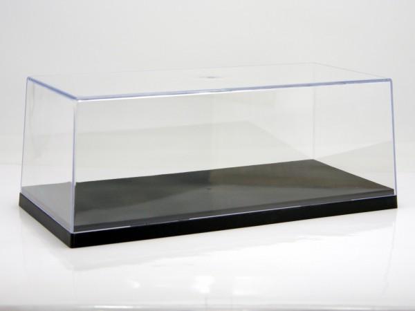 Vitrine für 1/18 Modelle Plexiglashaube mit schwarzer Bodenplatte stapelbar