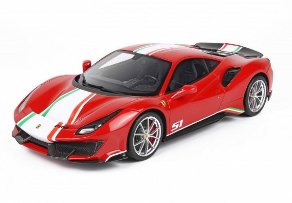 BBR Ferrari 488 Pista Piloti Rosso Corsa Limited Edition 50 1 /12