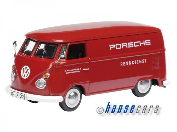 Schuco VW T1 Bulli Bus Kastenwagen Porsche Renndienst Limited Edition 1.000