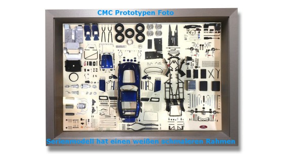 CMC Model Art, CMC Ferrari 250 GTO blau Bauteile-Display Limitierte Edition 200 Stück