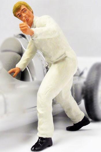 figurenmanufaktur Figur 1:18 Mechaniker Daumen hoch, weißer Overall