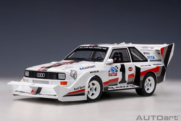 Auto Art Audi Quattro S1 Pikes Peak Winner 1987 W.Röhrl #1 1/18
