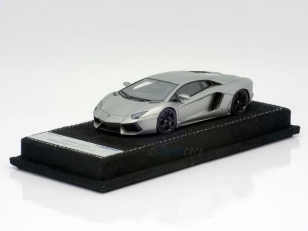 Looksmart Lamborghini Aventador LP 700-4 grigio antares matt Modell auf Alcantara Lederbasis Limited