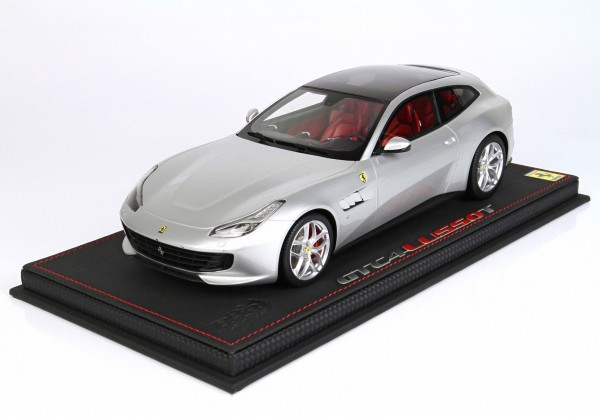 BBR Ferrari GTC4 Lusso T Panoramic roof Argento Nurburgring with silver wheels 1/18 Limited Edition