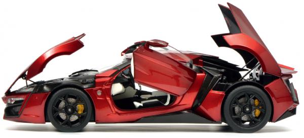 Schuco W-Motors Lykan HyperSport rot metallic 1:18 *VERPACKUNG mit Mängeln*