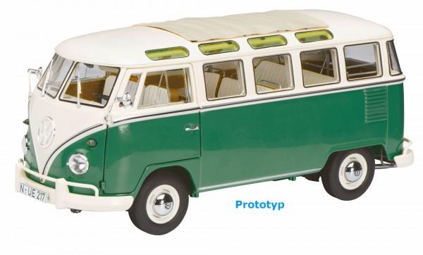 Schuco VW Bus T1b Samba grün/weiß 1:18 Limited Edition 1000