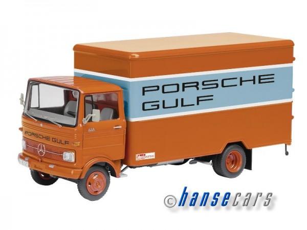 Schuco Mercedes Benz LP608 Koffer-LKW Porsche Gulf Racing Team Limited Edition 1.000
