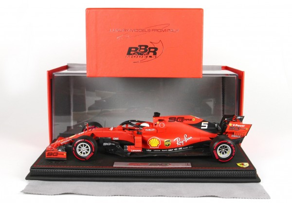 BBR Ferrari SF90 GP Australia Vettel n 5 Pirelli red START OF RACE Leder Basis Limited Edition 60