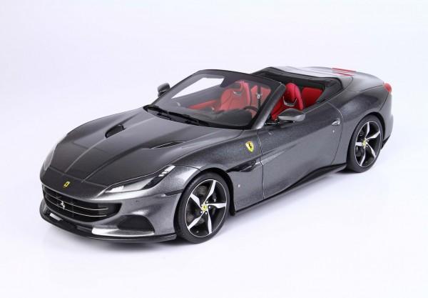 BBR Ferrari Portofino M Spider offen Grigio Titanio Metal Limited Edition 1/18