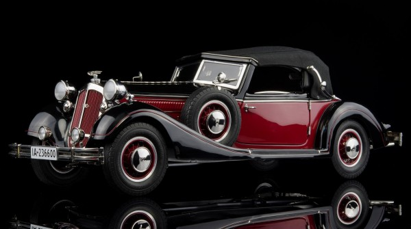 CMC Horch 853 1937 2 Farbenlackierung rot-schwarz 1:12