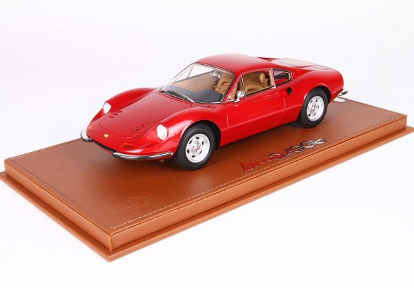 BBR Ferrari Dino 246 GT TIPO 607L 1969 Metal Dino Red Limited Edition 60