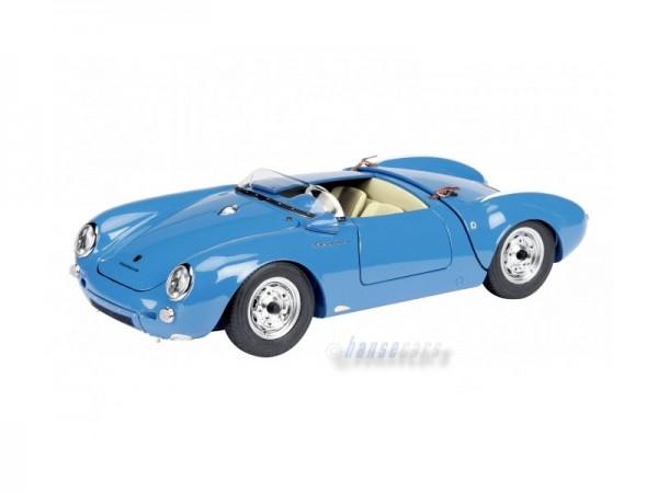Schuco Exklusiv Porsche 550 Spyder blau 1:18