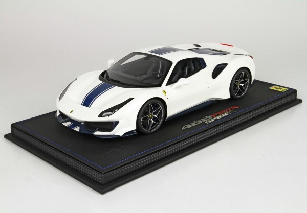 BBR Ferrari 488 Pista Spider closed roof Tetto Chiuso Limited Edition 12 1/18
