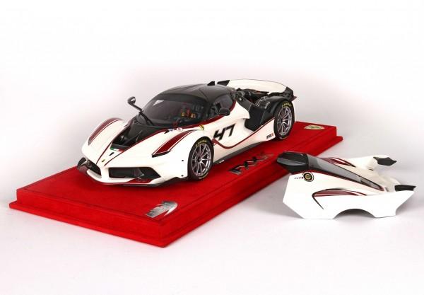 BBR Project 18 Ferrari FXX K open version #47 weiss-schwarz 1:18