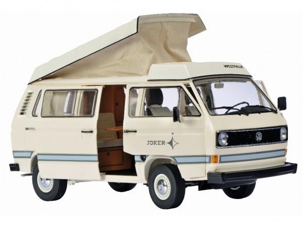Schuco Volkswagen VW T3 Joker Campingbus mit Hochdach creme 1:18
