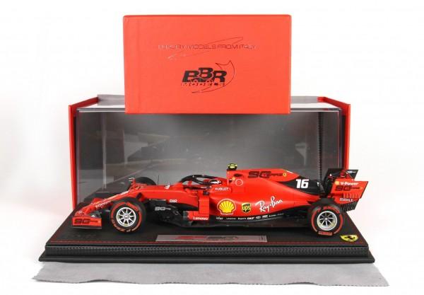 BBR Ferrari SF90 GP Australia Leclerc n 16 Pirelli red START OF RACE Leder Basis Limited Edition 60
