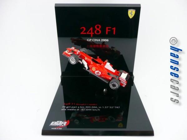 BBR Ferrari F248 GP China 2006 letzter M.Schumacher Sieg Limited Edition 150