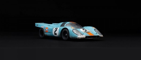 Amalgam Porsche 917K Gulf #2 Winner Daytona 1970 - RACE WEATHERED 1:18