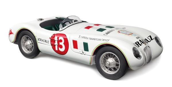 CMC Jaguar C-Type, 1953/54 Panamericana #13 Ibarra/Pinal Limitierte Edition 500 Stück