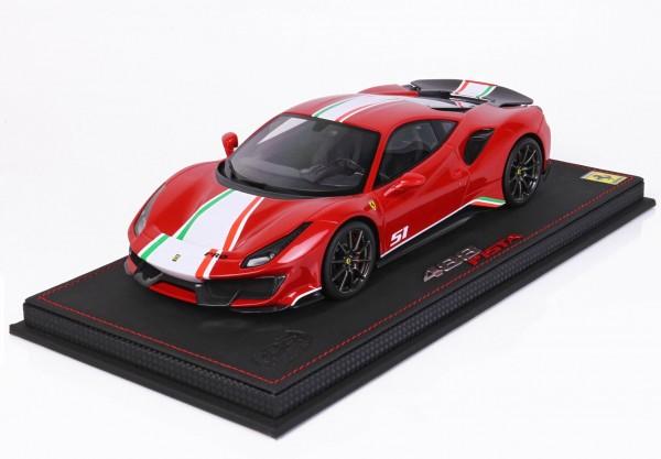 BBR Ferrari 488 Pista Piloti Ferrari Rosso Corsa 322 Limited Edition 48 1/18
