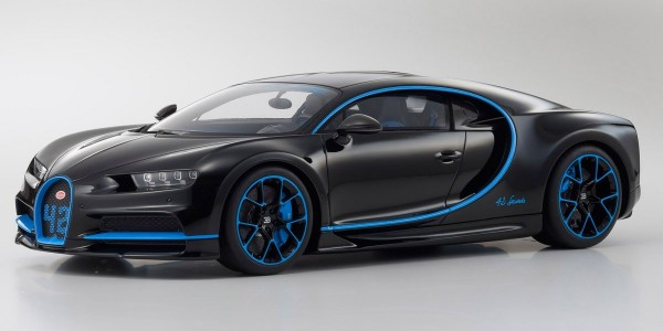 KYOSHO ORIGINAL Bugatti Chiron 42 Edition (schwarz / blau) 1:12 Limited Edition 300