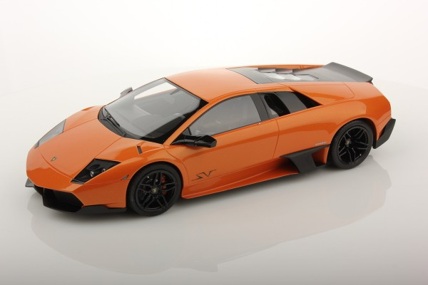 MR Models Lamborghini Murcièlago LP670-4 SV Fixed Wing scale 1/18 ORANGE BOREALIS