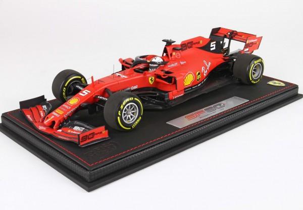 BBR Ferrari SF90 Belgium Gran Prix Sebastian Vettel 1/18 Limited Edition 60