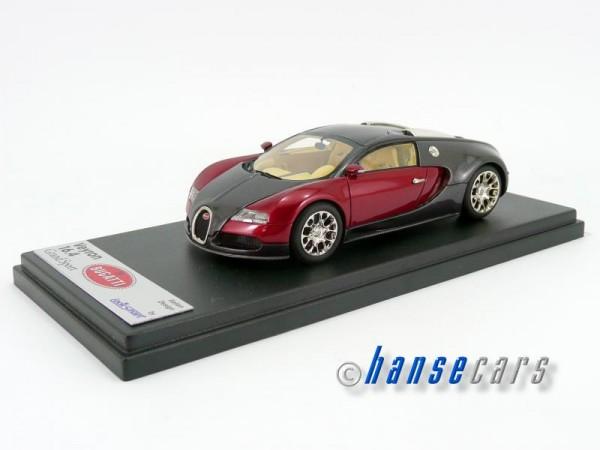 Looksmart Bugatti Grand Sport 2008 Spider geschlossen schwarz-rot 1:43