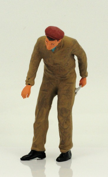 figurenmanufaktur Figur 1:18 Mechaniker, brauner Overall
