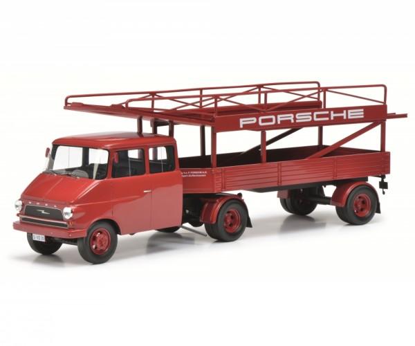 Schuco Opel Blitz Renntransporter PORSCHE 1:18