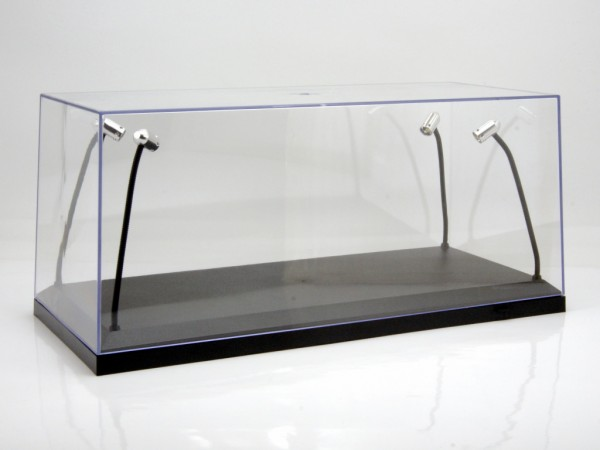 vitrine f r 1 18 modelle beleuchtet plexiglashaube mit. Black Bedroom Furniture Sets. Home Design Ideas