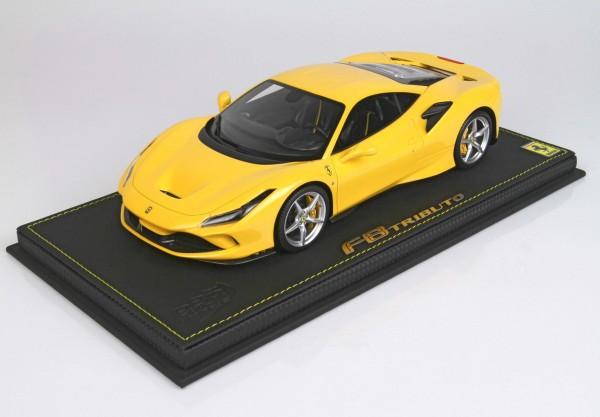 BBR Ferrari F8 Tributo Giallo Modena Limited Edition 24 1/18