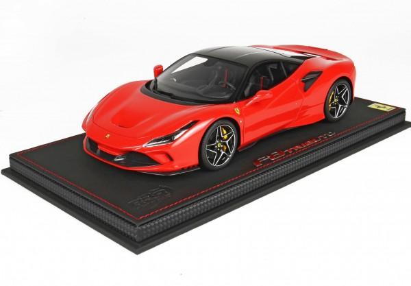 BBR Ferrari F8 Tributo Genf 2019 Red Scuderia Dach Daytona black 1/18 Limited Edition 48 Stück