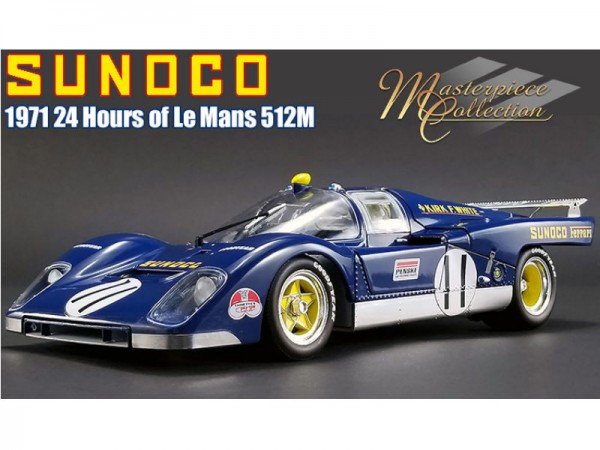 GMP Ferrari 512 M Sunoco 1971 Le Mans Driven by: Mark Donohue/David Hobbs 1/18