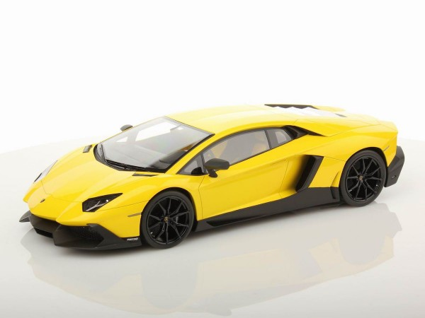 MR MODELS Lamborghini Aventador LP 720-4 50th Anniversary scale 1/18 GIALLO MAGGIO