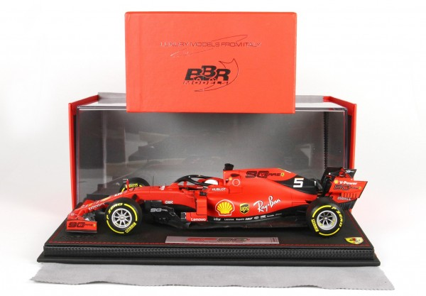 BBR Ferrari SF90 GP Australia Vettel n 5 Pirelli yellow Leder Basis Limited Edition 100