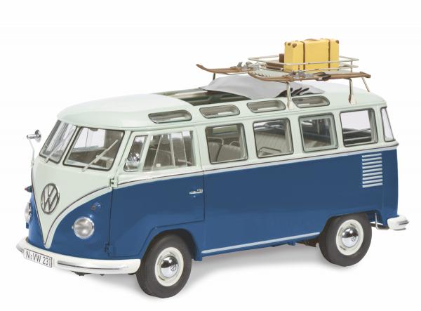 Schuco Classic VW T1 Samba Wintersport 1:18