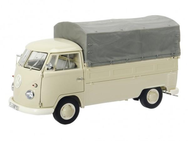 Schuco VW T1b Pritschenwagen mit Plane beige 1:18