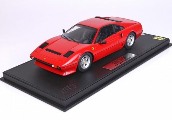 BBR Ferrari 208 GTB Turbo Rosso Interieur schwarz Limited Edition 200 1/18