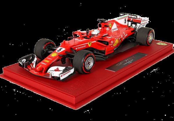 BBR High End Ferrari SF70H GP Monaco 2017 Sieger S.Vettel Leder Basis-Showcase 1:18