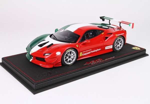 BBR Ferrari 488 Challenge TEAM GreyPaul Nottigham Limited Edition 62 1/18