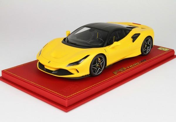 BBR Ferrari F8 Tributo Giallo Modena Matt Dach new black daytona metal Limited Edition 28 1/18