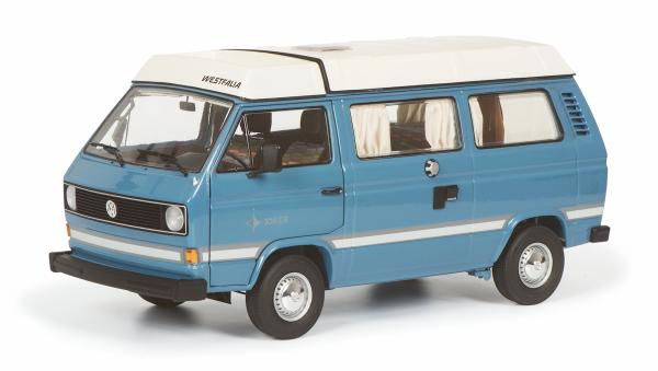 Schuco Classic VW T3a Westfalia Joker,mit Faltdach mediumblau 1:18